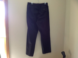 Black L L Bean Pleated Dress Work Pants 3 Pockets Button Zip Closure Size 14 image 6