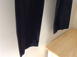 Black L L Bean Pleated Dress Work Pants 3 Pockets Button Zip Closure Size 14 image 4