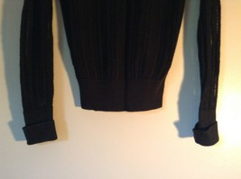 Black Long Sleeve Sweater with Hoodie by SO See Through Buttons on Top Size XL image 7