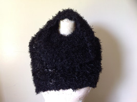 Black Magic Fuzzy Circle Scarf Can Be Worn Multiple Ways Very Expandable NO TAGS image 2