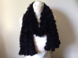 Black Magic Fuzzy Circle Scarf Can Be Worn Multiple Ways Very Expandable NO TAGS image 6