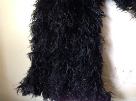 Black Magic Fuzzy Circle Scarf Can Be Worn Multiple Ways Very Expandable NO TAGS image 7
