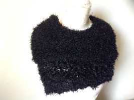 Black Magic Fuzzy Circle Scarf Can Be Worn Multiple Ways Very Expandable NO TAGS image 5