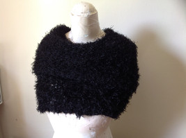 Black Magic Fuzzy Circle Scarf Can Be Worn Multiple Ways Very Expandable NO TAGS image 4