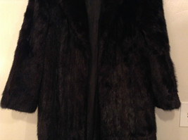 Black Mink Fur Coat Fur in Good Condition Size 14 Rebecca Chase image 4