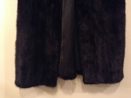 Black Mink Fur Coat Fur in Good Condition Size 14 Rebecca Chase image 5