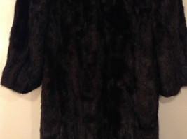 Black Mink Fur Coat Fur in Good Condition Size 14 Rebecca Chase image 7