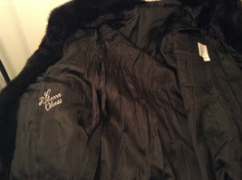 Black Mink Fur Coat Fur in Good Condition Size 14 Rebecca Chase image 8
