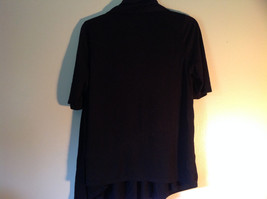 Black Open Front Shirt Short Sleeve by DK NYC Size Small image 3