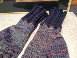 Woven Lavender Fingerless Gloves for Small Hands Hand Knitted VERY Soft image 3