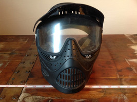 Black Paintball Mask with Goggles and  Visor image 2