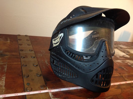 Black Paintball Mask with Goggles and  Visor image 3