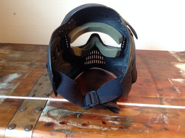 Black Paintball Mask with Goggles and  Visor image 5