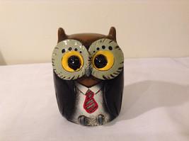 Black Piggy Bank Professor Owl New Original Packaging image 2