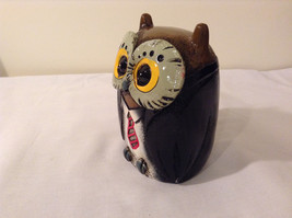 Black Piggy Bank Professor Owl New Original Packaging image 6