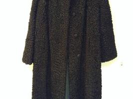 Black Persian Lamb Fur Coat by Pierre Furs No Size Tag Measurements Below image 3