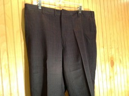 Black Pleated Dress Pants with Plaid Pattern Size 40 Tags Removed image 2