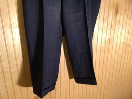 Black Pleated Dress Pants with Plaid Pattern Size 40 Tags Removed image 3