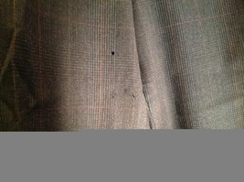 Black Pleated Dress Pants with Plaid Pattern Size 40 Tags Removed image 4