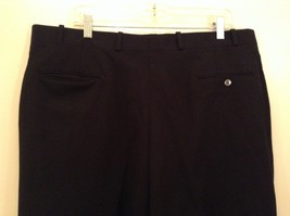 Black Pleated Front Dress Pants Merit Millennial Comfort Measurements Below image 5