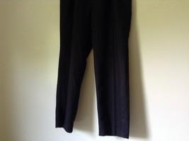 Black Pleated Dress Pants by Haggar No Size Tag Measurements Below image 3