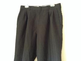 Black Pleated Dress Pants by Haggar No Size Tag Measurements Below image 2