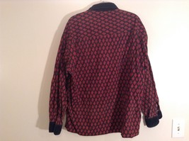Black Red Pattern Souleiado Button Up Shirt Size 5 European Made in France image 6