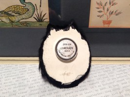 Black Pomeranian Dog Head Magnet Recycled Rabbit Hair Conversation Concepts image 5