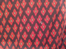 Black Red Pattern Souleiado Button Up Shirt Size 5 European Made in France image 8