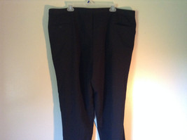 Black Pleated Dress Pants NO TAGS See Measurements Below image 4