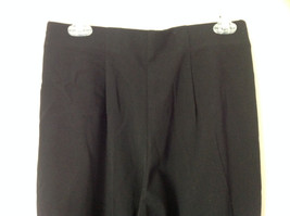 Black Pleated Elastic Waist Work Casual Pants by Jennifer Moore Size 10 image 5