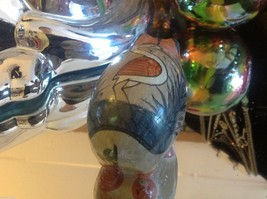 ceramic vintage painted pig made in mexico  with crane on back image 6