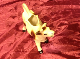 """cute vintage cow creamer 8"""" white and brown image 2"""