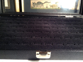 Black Ring Display Case with Foam Padding and Silver Latch for Closing image 6