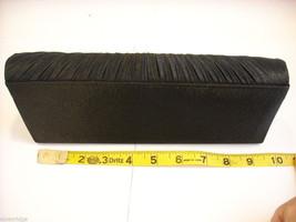 Black Satin Clutch Purse with Rhinestones image 6