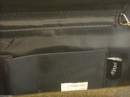 Black Satin Clutch Purse with Rhinestones image 4