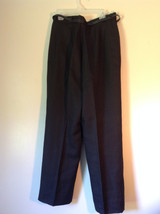 Black Size 10 Giorgio Sant Angelo Pleated Dress Pants with Black Belt image 5