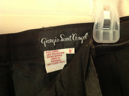 Black Size 10 Giorgio Sant Angelo Pleated Dress Pants with Black Belt image 4