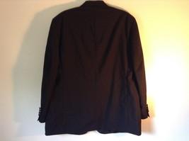 Black Stafford Woolmark 100 Percent Pure Wool Suit Jacket Measurements Below image 3