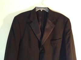 Black Stafford Woolmark 100 Percent Pure Wool Suit Jacket Measurements Below image 2
