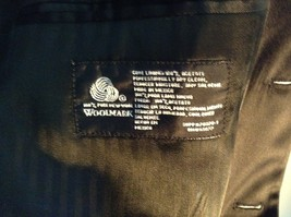 Black Stafford Woolmark 100 Percent Pure Wool Suit Jacket Measurements Below image 4