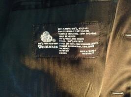 Black Stafford Woolmark 100 Percent Pure Wool Suit Jacket Measurements Below image 5