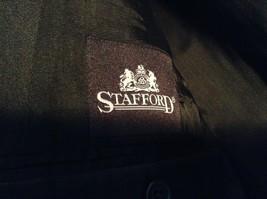 Black Stafford Woolmark 100 Percent Pure Wool Suit Jacket Measurements Below image 6