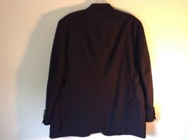 Black Stafford Woolmark 100 Percent Pure Wool Suit Jacket Measurements Below image 7