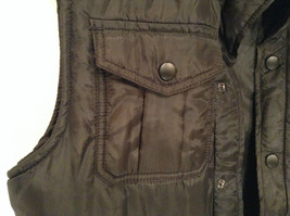 Black Size S Petite Express Warm Vest Zipper Closure Four Front Pockets image 3