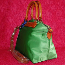 Dooney & Bourke Nylon Green Satchel Handbag NWT image 2