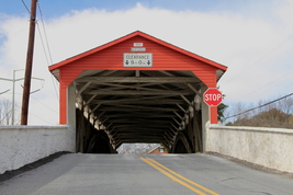 Wehr's Dam Covered Bridge 13 x 19 Unmatted Photograph - $35.00