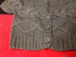 pink rose dark grey short sleeve sweater size large image 3