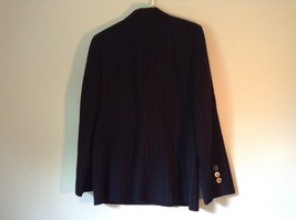 Black Striped Amanda Smith Blazer Shoulder Pads Buttons on Sleeves Size 8 image 7