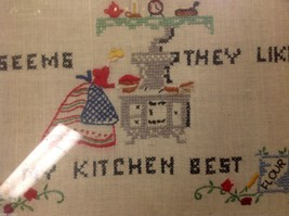 stitchery framed vintage hand made My Guests Like my kitchen best image 6